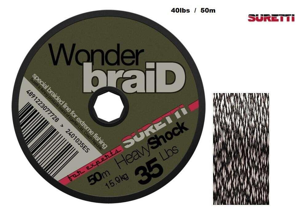 WonderbraiD Heavy Shock 40lbs 50m Suretti