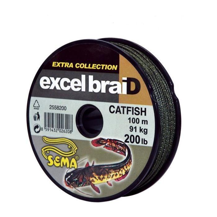 Šňůra - ExcelbraiD Catfish - 91kg - návin 100m SEMA