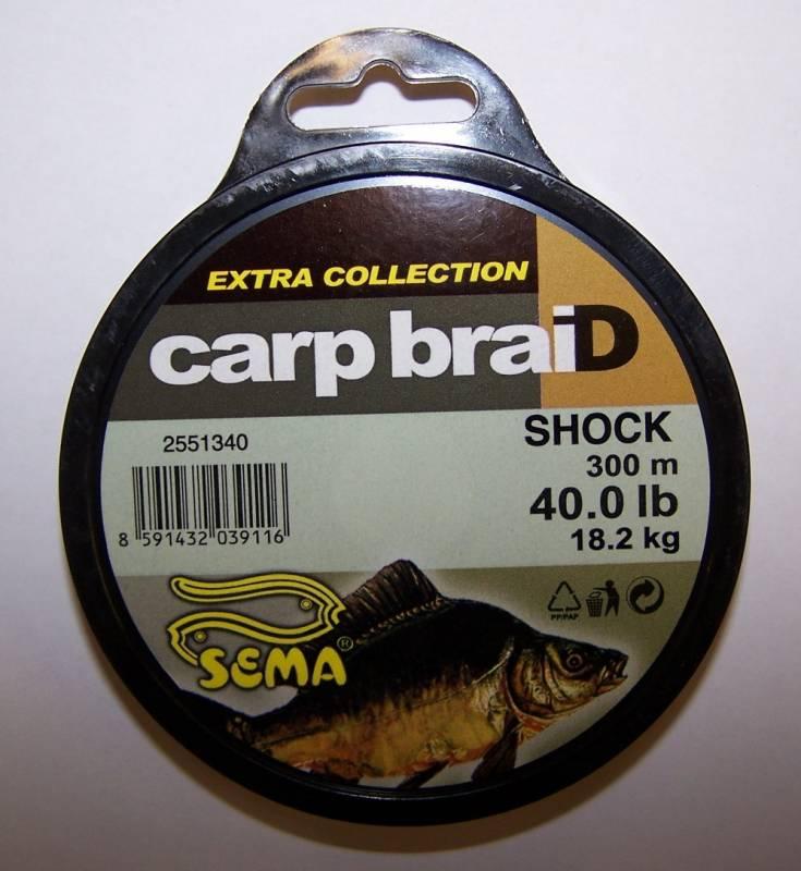 CarpbraiD Shock 18,2kg/300 m Sema