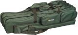 Obal na pruty - zelený tříkomorový - 125 cm