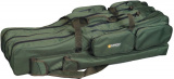 Obal na pruty - zelený tříkomorový - 150 cm
