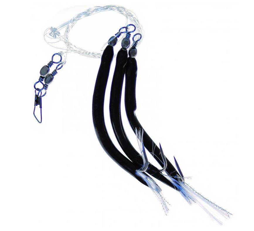 Trubičky ( papriky) návazec černé, třásně ICE Fish