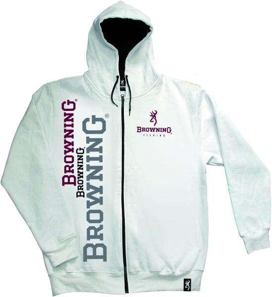 Sweat jacket Browning - bílá mikina s kapucí